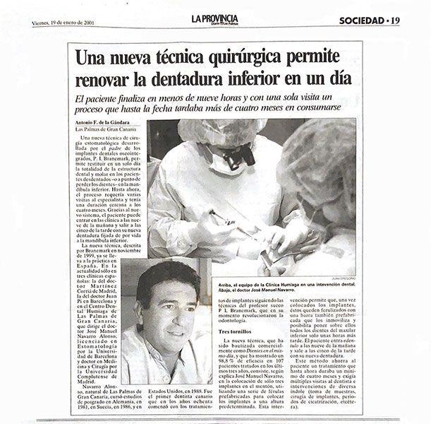 Recorte periódico noticia